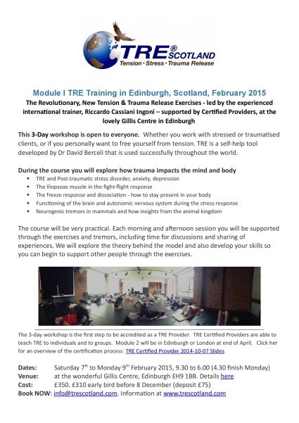 Edinburgh, Scotland – TRE Certificiation Training – Module 1