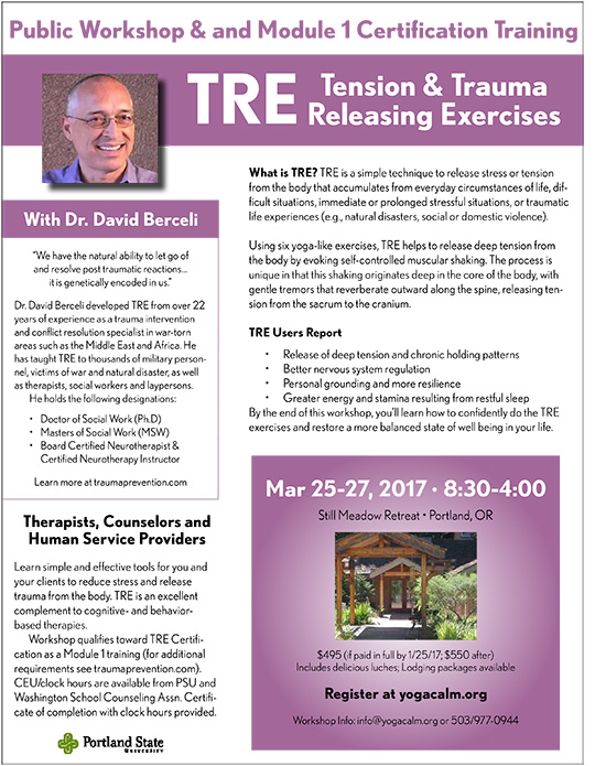 Portland, OR - TRE Module 1 Workshop with David Berceli