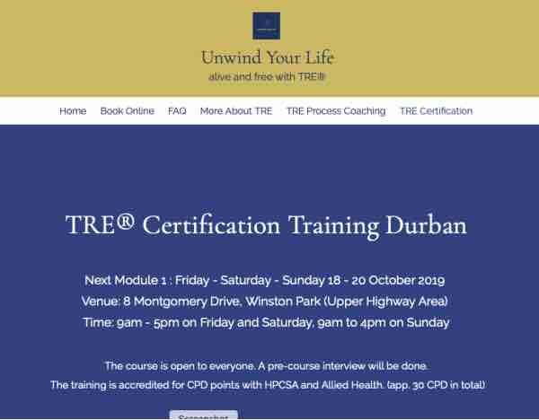 TRE® Module 1 Durban South Africa