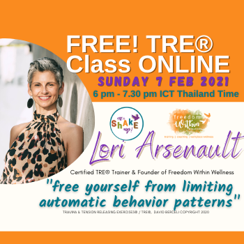 Free Monthly Online TRE®  Class - with Lori Ann Arsenault