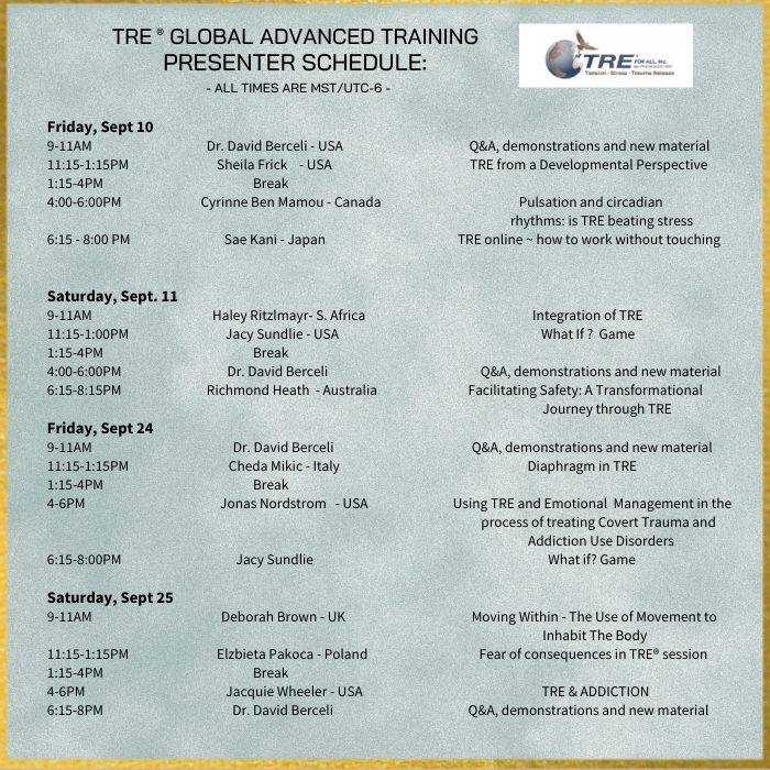 TRE® Online Advanced Training (Weekend Part 2) with Dr. David Berceli